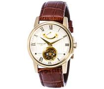 Erwachsene Analog Automatik Smart Watch Armbanduhr mit Leder Armband ES-8081-04