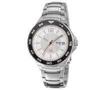 Herren-Armbanduhr XL Analog Quarz Edelstahl