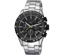 Armbanduhr Calibre Chronograph Quarz Edelstahl ES104031006