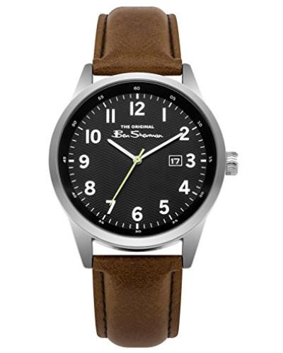 Datum klassisch Quarz Uhr mit PU Armband BS010BBR