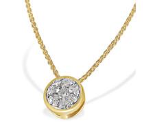 Halskette Glamour 585 Gelbgold 13 Diamanten 0