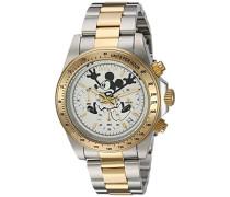 22865 Disney Limited Edition - Mickey Mouse Uhr Edelstahl Quarz weißen Zifferblat