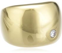 Damen-Ring Vergoldet Zirkonia weiß