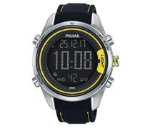 Digital Quarz Uhr mit Leder Armband P5A007X1