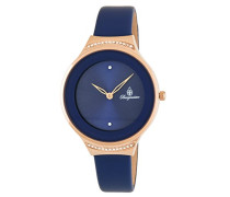 Armbanduhr für mit Analog Anzeige, Quarz-Uhr und Lederarmband - Wasserdichte Damenuhr mit zeitlosem, schickem Design - klassische