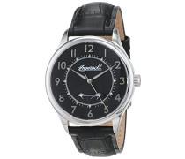 Datum klassisch Quarz Uhr mit Leder Armband INJA001SLBK