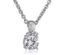 Halskette 925 Sterling Silber rhodiniert Glas Zirkonia Toujours 42 cm Weiß S.PCNL90460A420