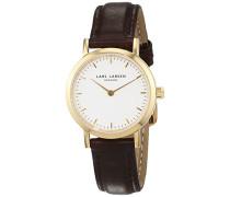 Damen Analog Quarz Uhr mit Leder Armband 124GWBLL