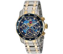 24133 Disney Limited Edition - Mickey Mouse Uhr Edelstahl Quarz schwarzen Zifferblat