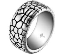 Damen-Ring Edelstahl mit Animalprint