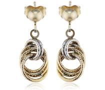 Damen-Ohrhänger 9 Karat (375) Bicolor 324320052-2