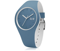 ICE duo Bluestone - Blaue Herrenuhr mit Silikonarmband - 001496 (Medium)