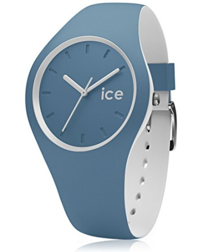ICE duo Bluestone - Blaue Herrenuhr mit Silikonarmband - 001496 (Medium)