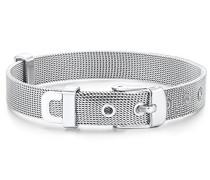 Armband - Gürtel Länge Flexibel 14.5 bis 19 cm Edelstahl in Silber-Farben - Modernes Milanaise-Armband in Fashion-Design 60917061
