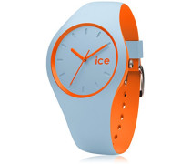 ICE duo Orange Sage - Blaue Herrenuhr mit Silikonarmband - 001495 (Medium)