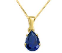 Halskette 9 Karat 375 Gold Saphir Gelbgold 45 cm MA9162N