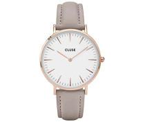 Damen Analog Quarz Uhr mit Leder Armband CLA001