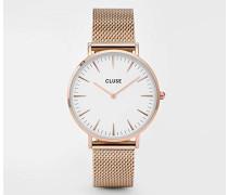 Damen Armbanduhr Analog Quarz Edelstahl CL18112