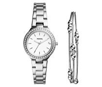 Analog Quarz Uhr mit Edelstahl Armband ES4336SET