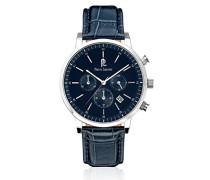 213 C166 – Week End Vintage – Armbanduhr – Quarz Chronograph – Zifferblatt Blau Armband Leder Blau