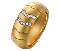 Ring 925 Sterling Silber rhodiniert Glas Zirkonia Réalisme weiß