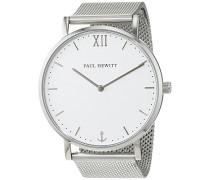 Analog Quarz Uhr mit Edelstahl Armband PH-SA-S-St-W-4S