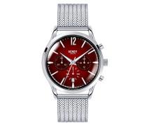 Chronograph Quarz Uhr mit Edelstahl Armband HL41-CM-0101