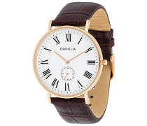 Herren-Armbanduhr Charming Analog Quarz Leder