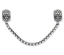 Sicherheitskette Karma Beads 925 Sterling Silber geschwärzt Silikon KS0003-585-12
