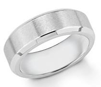 Herren-Ring gravierbar Edelstahl mattiert