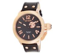 – j1142r-267 – San Remo – Armbanduhr – Quarz Analog – Zifferblatt schwarz Armband Leder schwarz