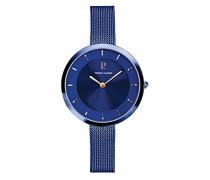 Analog Quarz Uhr mit massives Edelstahl Armband 076G668