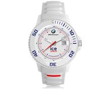 BMW Motorsport (sili) White - Weiße Herrenuhr mit Silikonarmband - 000837 (Large)
