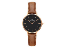 Erwachsene Analog Quarz Uhr mit Leder Armband DW00100222