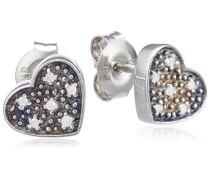 Ohrstecker 925 Sterling Silber 12x Diamanten 0.06 ct. 360220622
