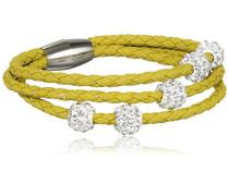 Damen-Armband rhodiniert Glas 19 cm - 4452