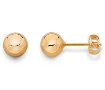 Ohrringe Rosé 9 Karat/375 Gold Ohrstecker Kugel