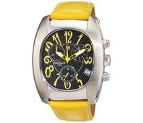 Armbanduhr Chronograph Quarz Leder 0289-S-Gelb-DS