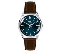 Datum klassisch Quarz Uhr mit Leder Armband HL39-S-0103