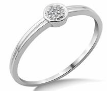 SA982R Diamantring, 9-karätiges Weißgold