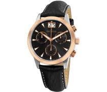 Armbanduhr Chronograph Quarz Leder 1722.9557
