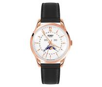 Mondphase Quarz Uhr mit Leder Armband HL39-LS-0150