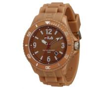 Summertime – fa-1023 – 29 – Armbanduhr – Quarz Digital – Zifferblatt braun Armband Silikon braun