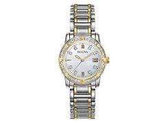 Armbanduhr Analog Quarz Edelstahl beschichtet 98R107