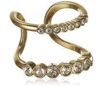 Stapelring Icons Emelia Iii Sg Crystal Edelstahl teilvergoldet Kristall transparent