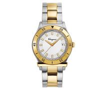 Salvatore Ferragamo Datum klassisch Quarz Uhr mit Edelstahl Armband FH1010017