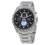 Chronograph Quarz Uhr mit Edelstahl Armband SSB257P1
