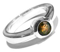 Ring Sterling-Silber mit echtem Rauchquarz, Stone