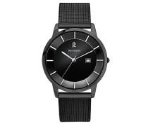 Armbanduhr Analog Edelstahl schwarz 264C338