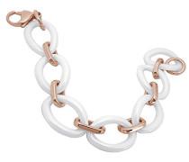 Damen Armband Edelstahl 20 cm weiß ASG-051